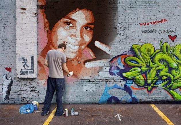 transformar foto em grafite