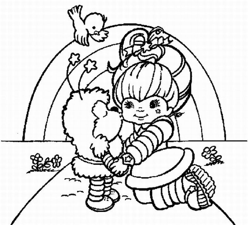 Rainbow Bright Coloring Pages | Learn To Coloring