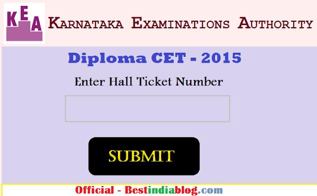 karnataka diploma CET Results