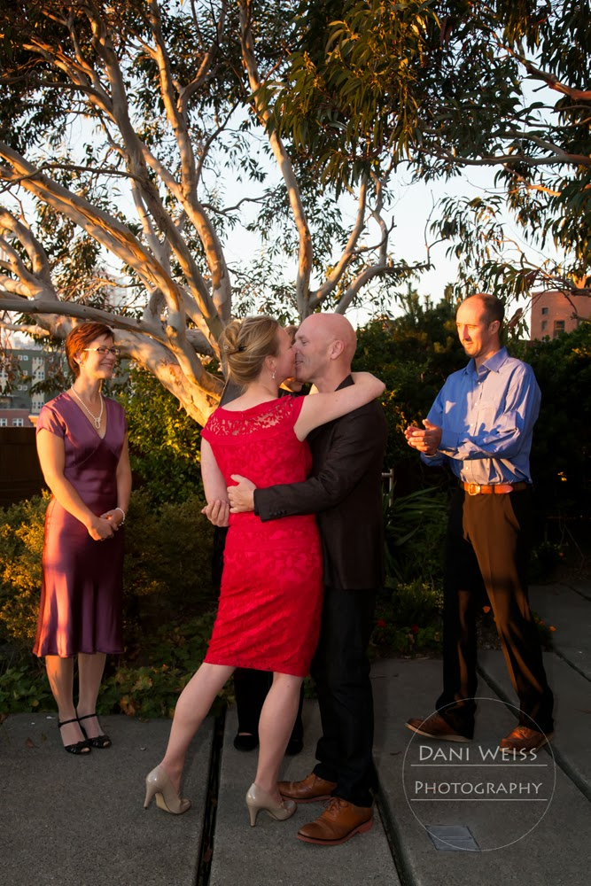 Chris and Ulrica seal their marriage vows with a kiss - Patricia Stimac, Seattle Wedding Officiant