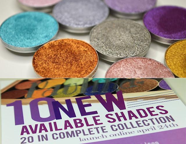 Swatche -  Folied Eyeshadow Makeup Geek (10 nowych odcieni ) AKTUALIZACJA