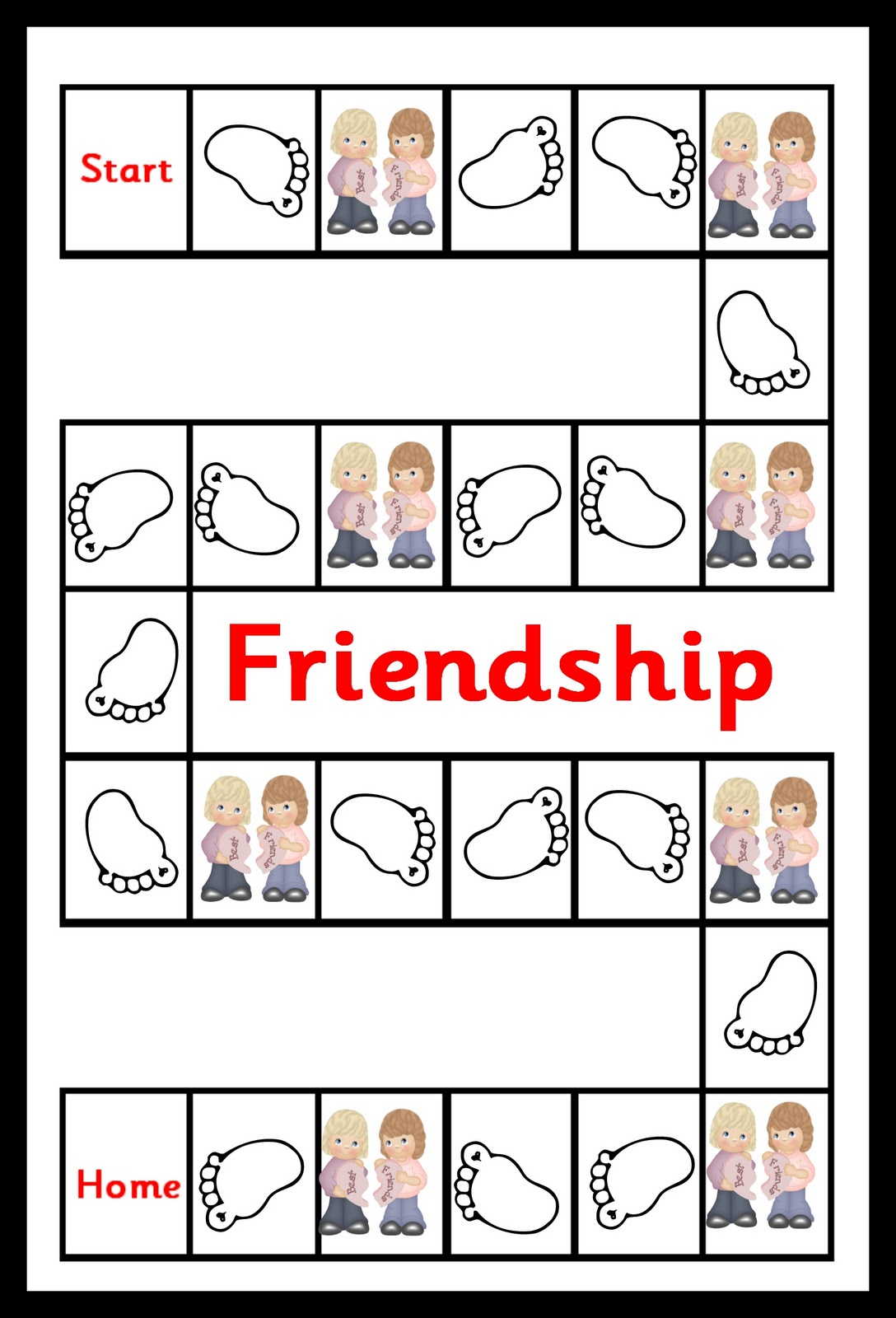 Debbie's Resource Cupboard: Friendship game - emotional literacy