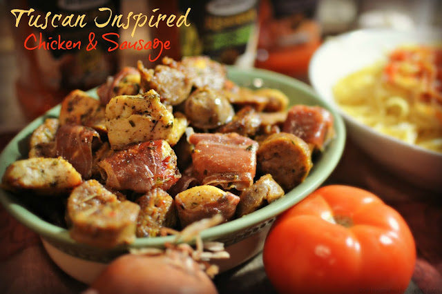 Chicken and Sausage #Recipe #MyTuscanTable