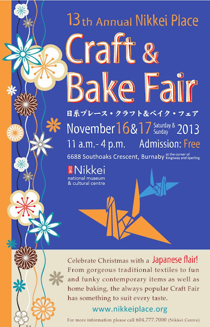 Nikkei Craft and Bake Fair November 16 2013