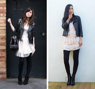 combinação Vestidos com Casacos