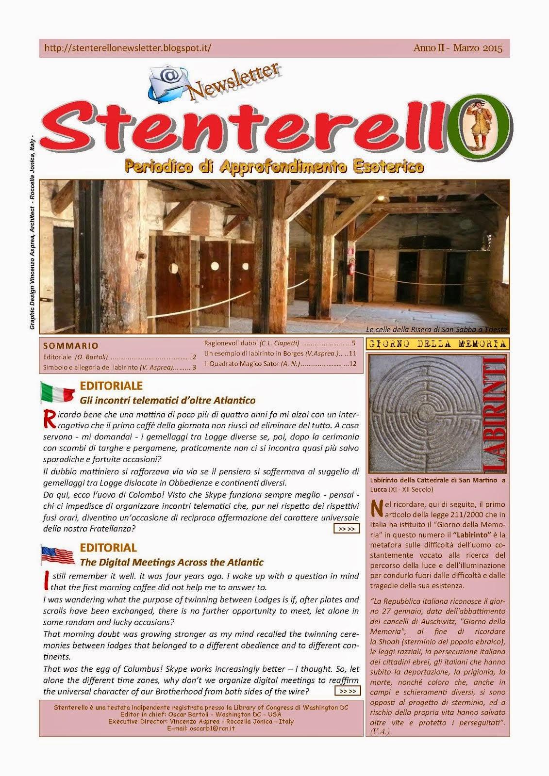 Stenterello Anno II - Marzo 2015