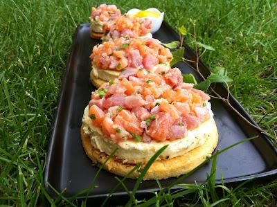 """alt=""""tartare de saumon et thon"""""""