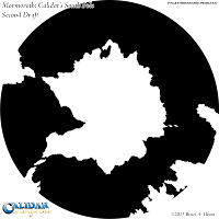 Mormoroth: Calidar's South Pole (Second Draft), Polar Stereographic Projection