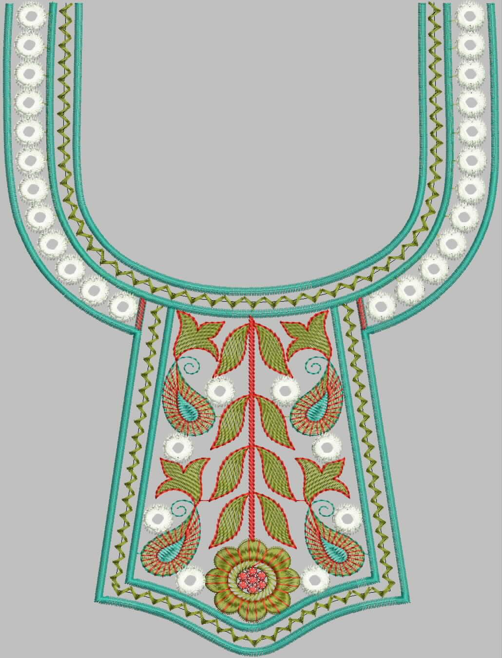 Fresh Indian Neck Emb Designs For Salwar Kameez