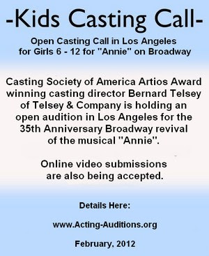 Annie Los Angeles Open Casting Call