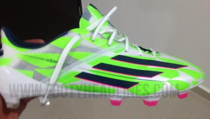 adidas adizero f50 green and pink