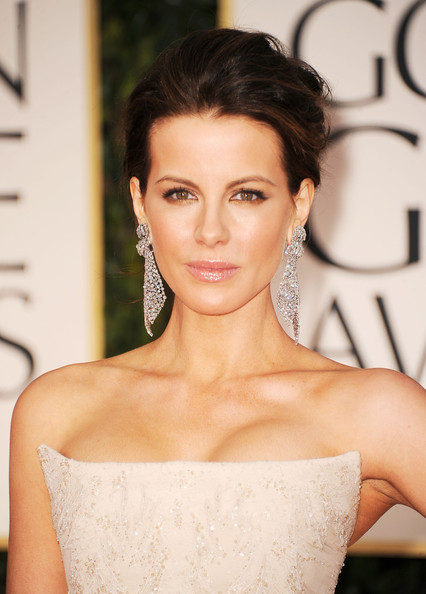 Kate Beckinsale looks gorgeous in her nude embellished Roberto Cavalli ...