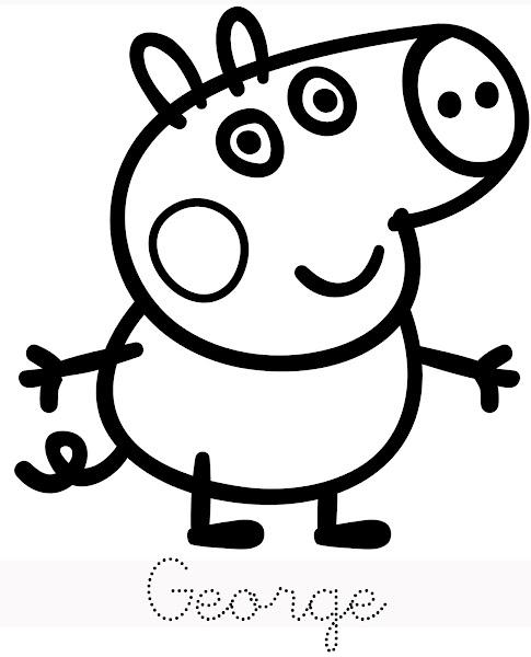Peppa Pig George Coloring Page