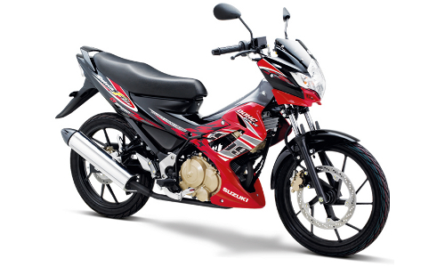Satria F Terbaru Candy Summer Red - Titan Black