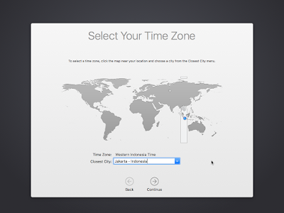 Pemilihan Waktu OS X El Capitan