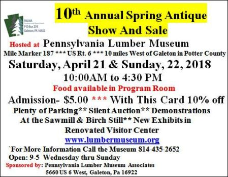 4-21/22 Antique Show, Lumber Museum