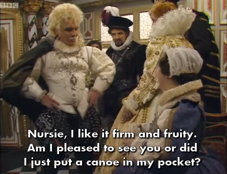 Rik Mayall, Patsy Byrne and the rest of the Blackadder crew