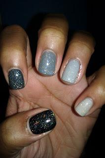 Ombre,grey, gray, greyscale, monochromatic, nail art, mani