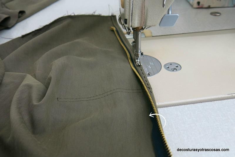 como coser una cremallera bien rematada