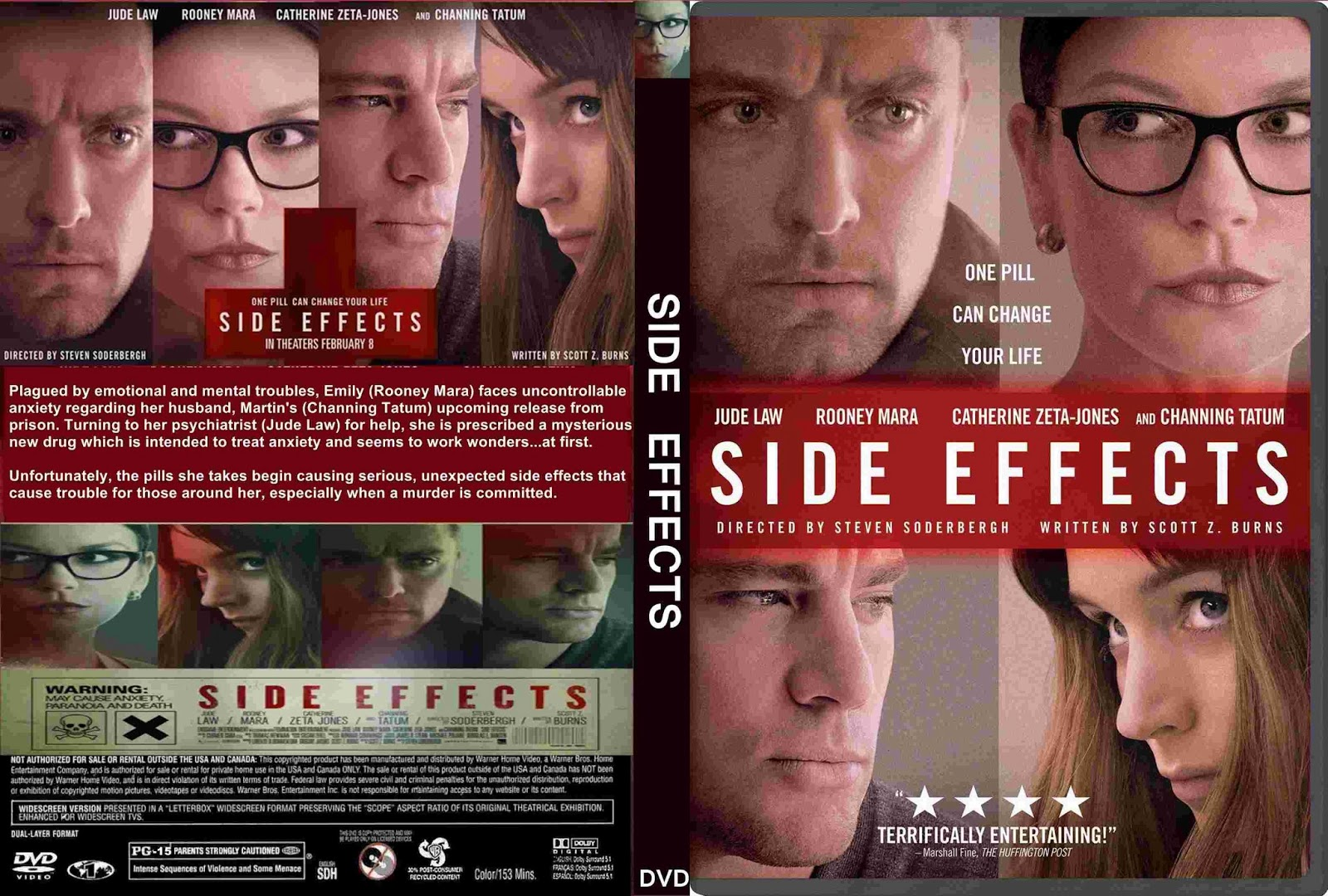Side effects 2013 cover and label dvd movie side effects 201