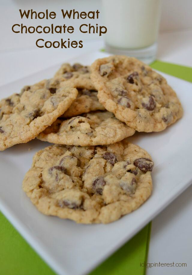 Dig Pinterest: Whole Wheat Chocolate Chip Cookies, But You'd Never ...