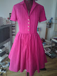 1950&#39;s Cerise Dress