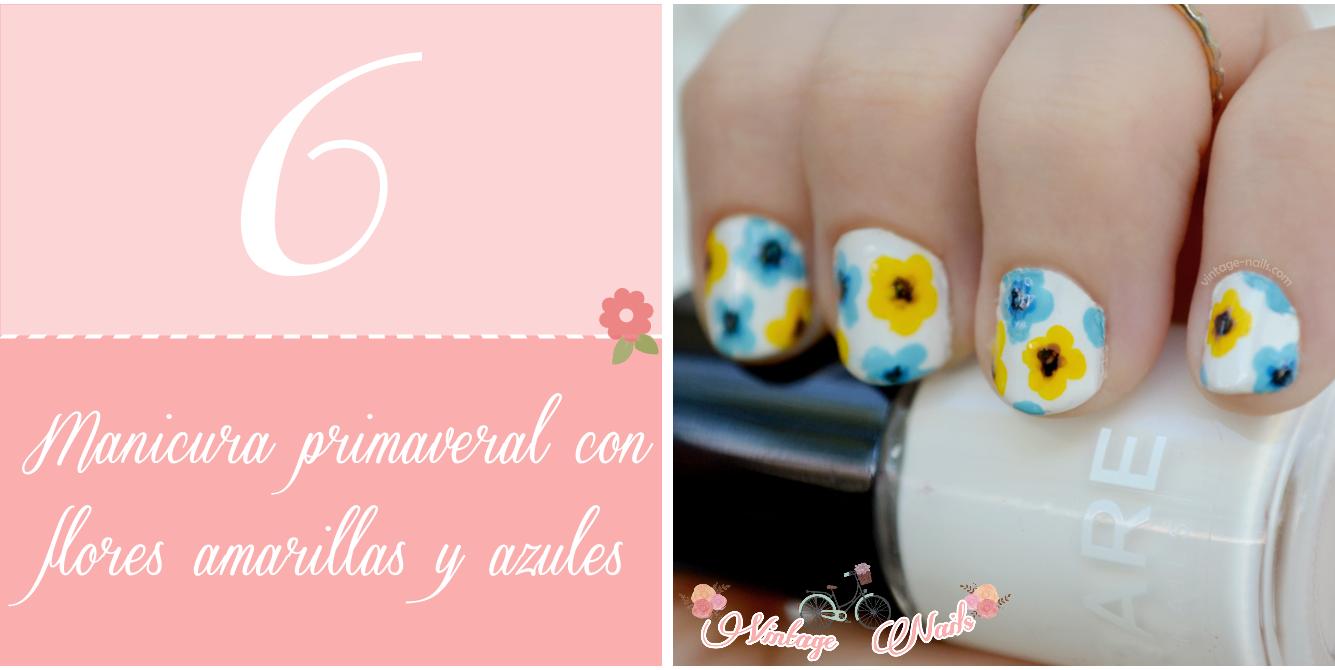 nail art, manicura, manicure, vintage nails, spring nail art