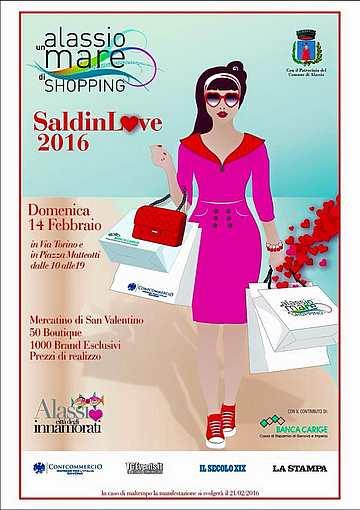 """Alassio - Il consorzio """"Alassio un mare di Shopping"""" presenta """" SaldinL♥ve 2016 """""""