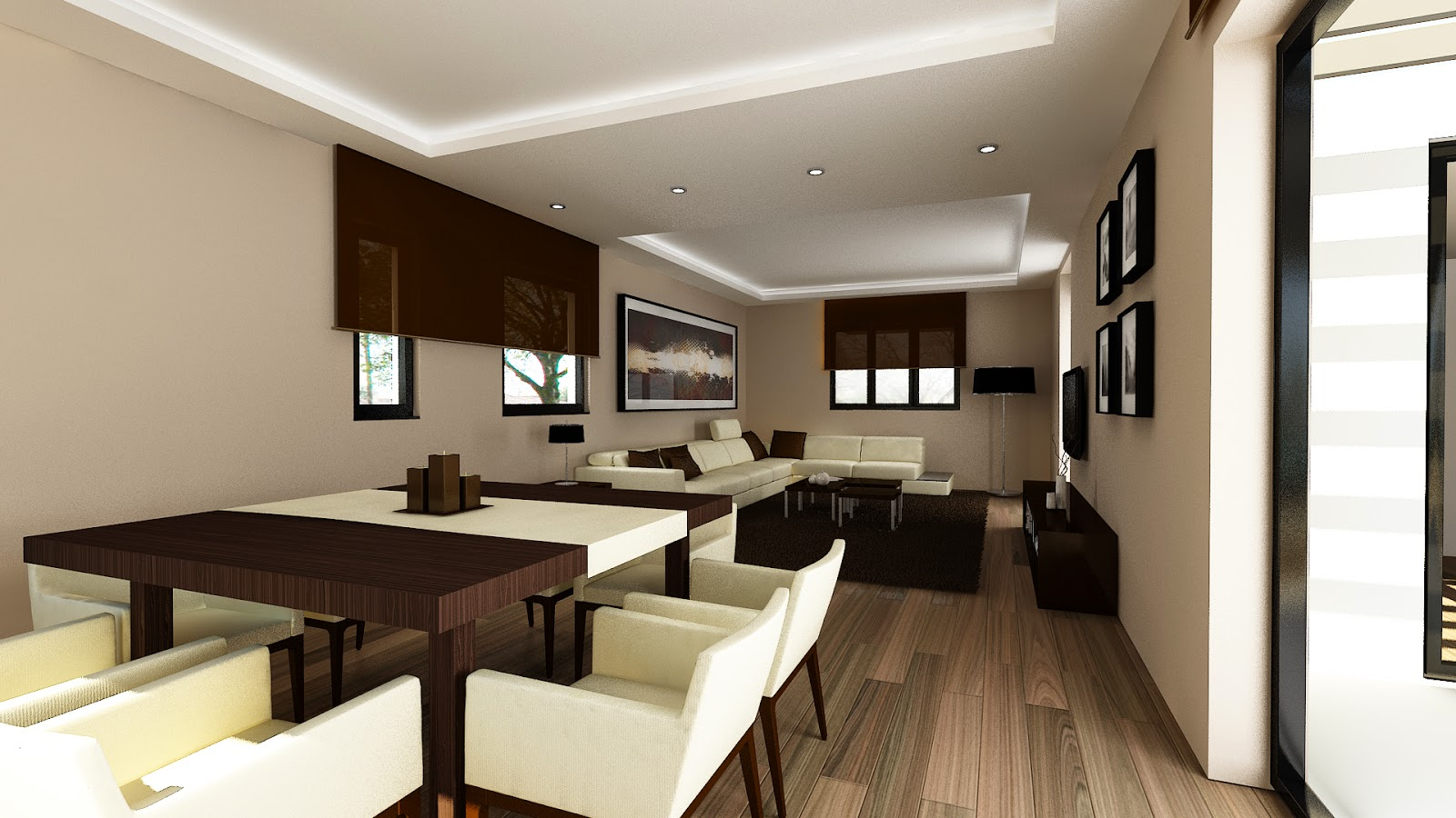Salón modelo H vivienda Resan Modular