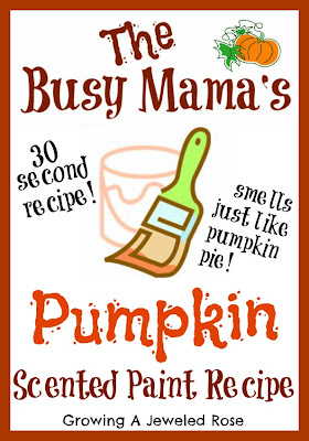 craft recipes- pumpkin scented paint