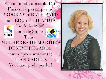 Apóstola Rita Farias na Rede Super. Você vai perder!?