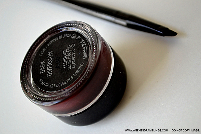 MAC Cosmetics Makeup Fluidline Dark Diversion Beauty Blog Reviews Swatches