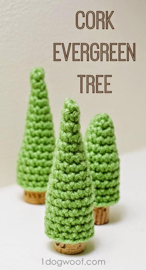 free crochet pattern cork pine tree