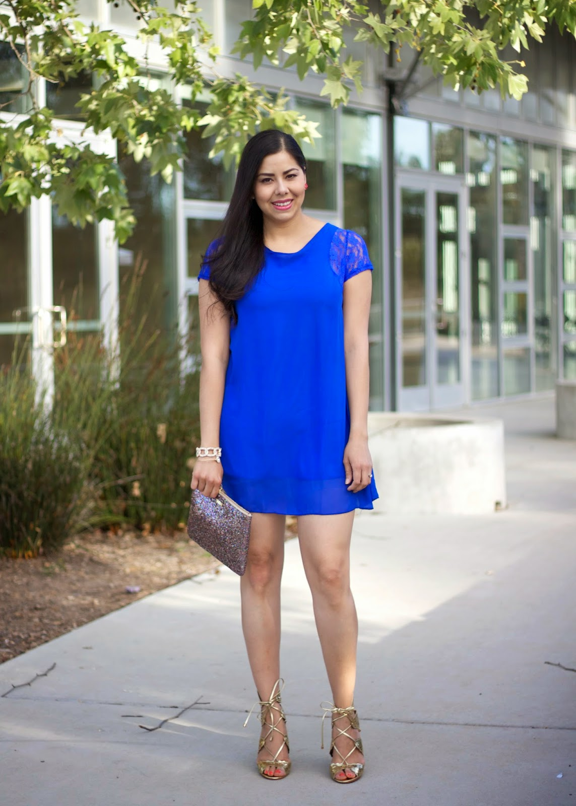 Heels With Blue Dress