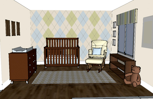 Look At The Birdie And Smile Nursery Design Argyle And