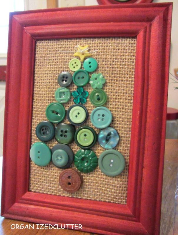 christmas tree framed art