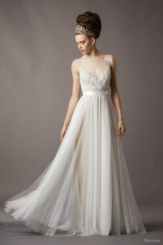 hot inspiration for bridal wedding gowns trend 2014