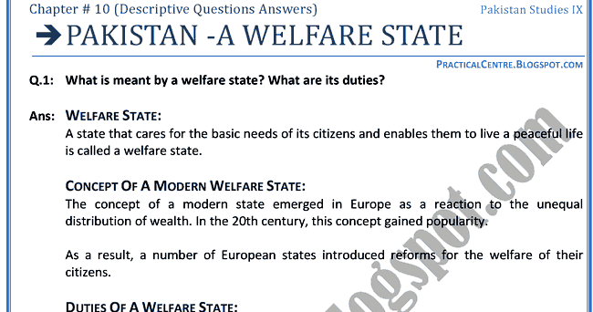 Essay on welfare