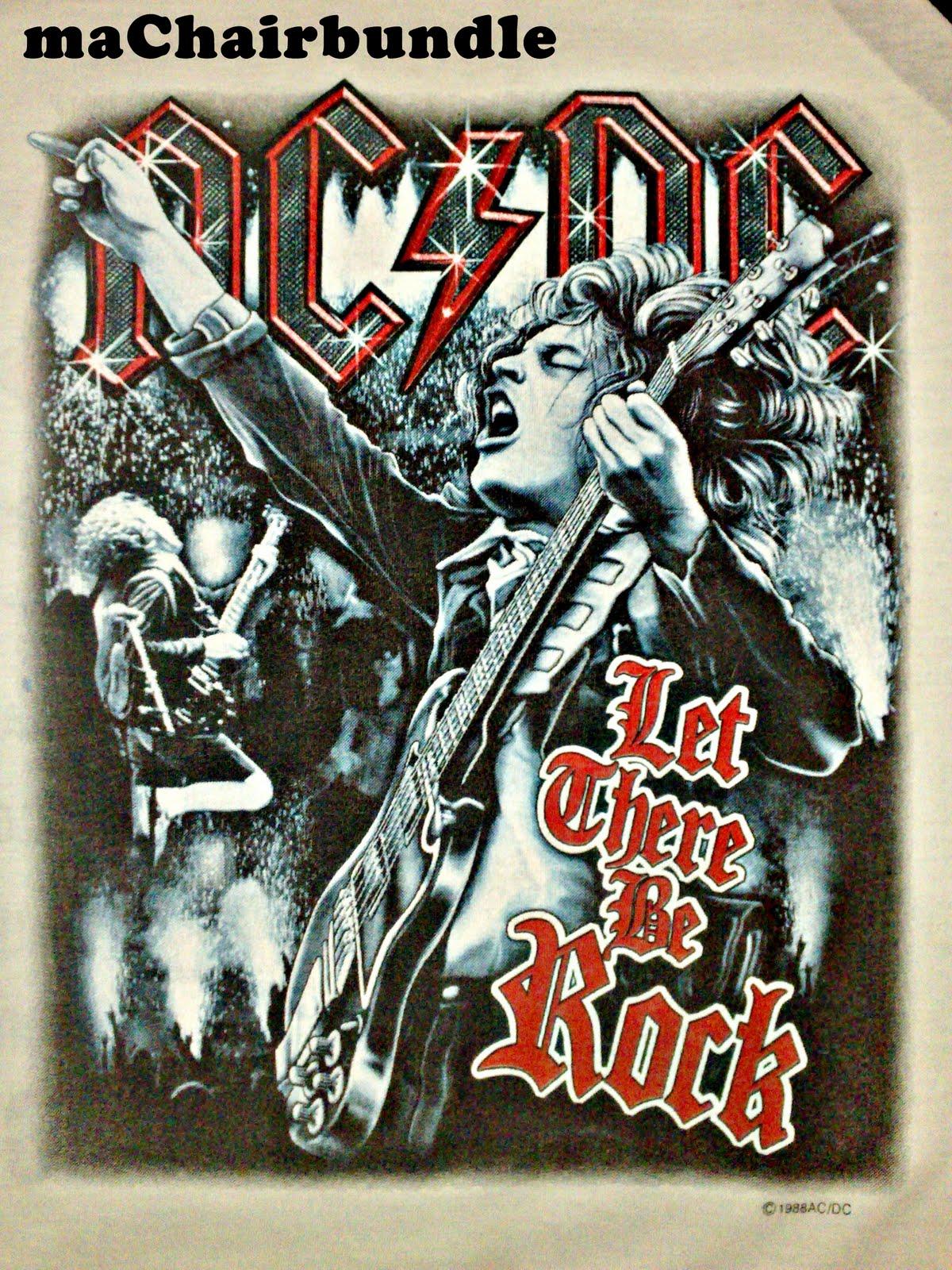 maChairbundle: Vintage 3 Quarter AC/DC World Tour 1988 - RM230 ...