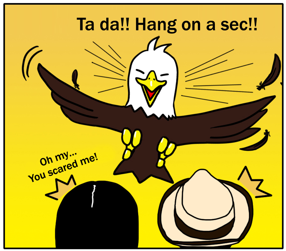 Ta-da!! Hang on a sec!!