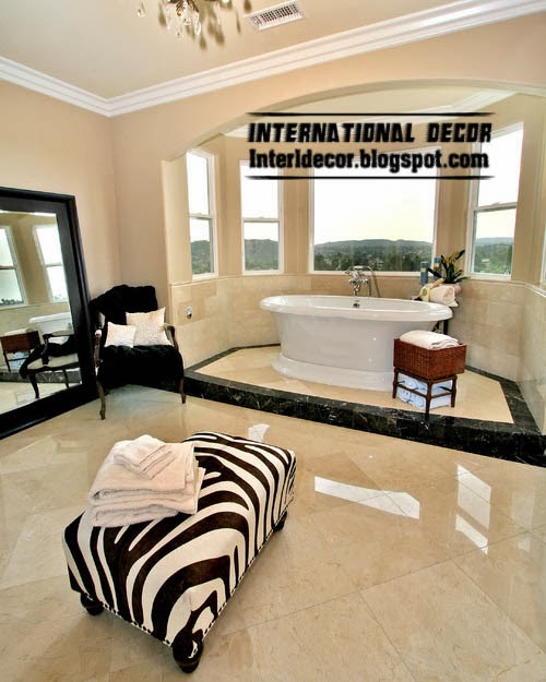black and white Ottoman and banquette