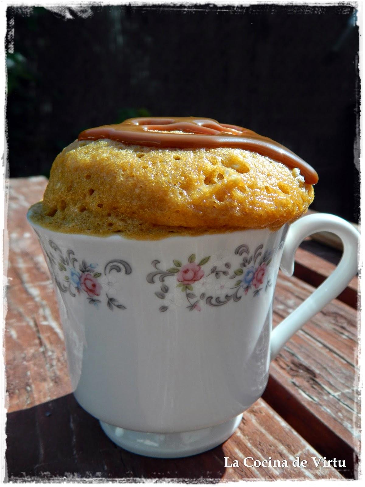La cocina de virtu mug cake dulce de leche al microondas for Cocina al microondas