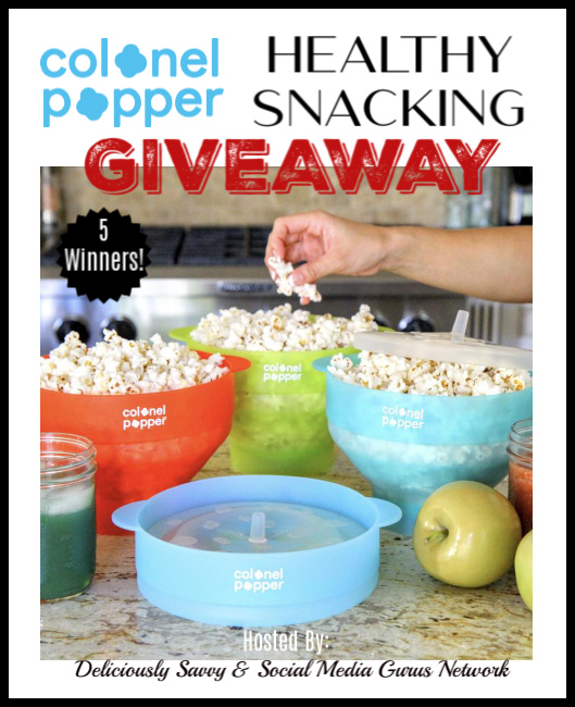 Colonel Popper Healthy Snacking Giveaway