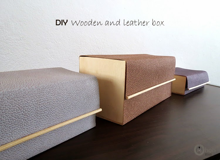 DIY Wooden and leather box
