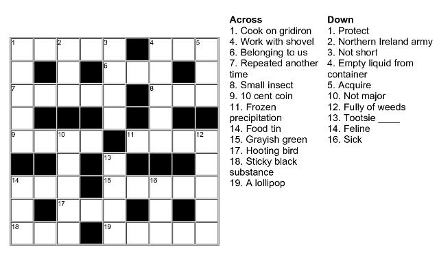 Beberapa gambar diatas merupakan contoh teka-teki silang bahasa