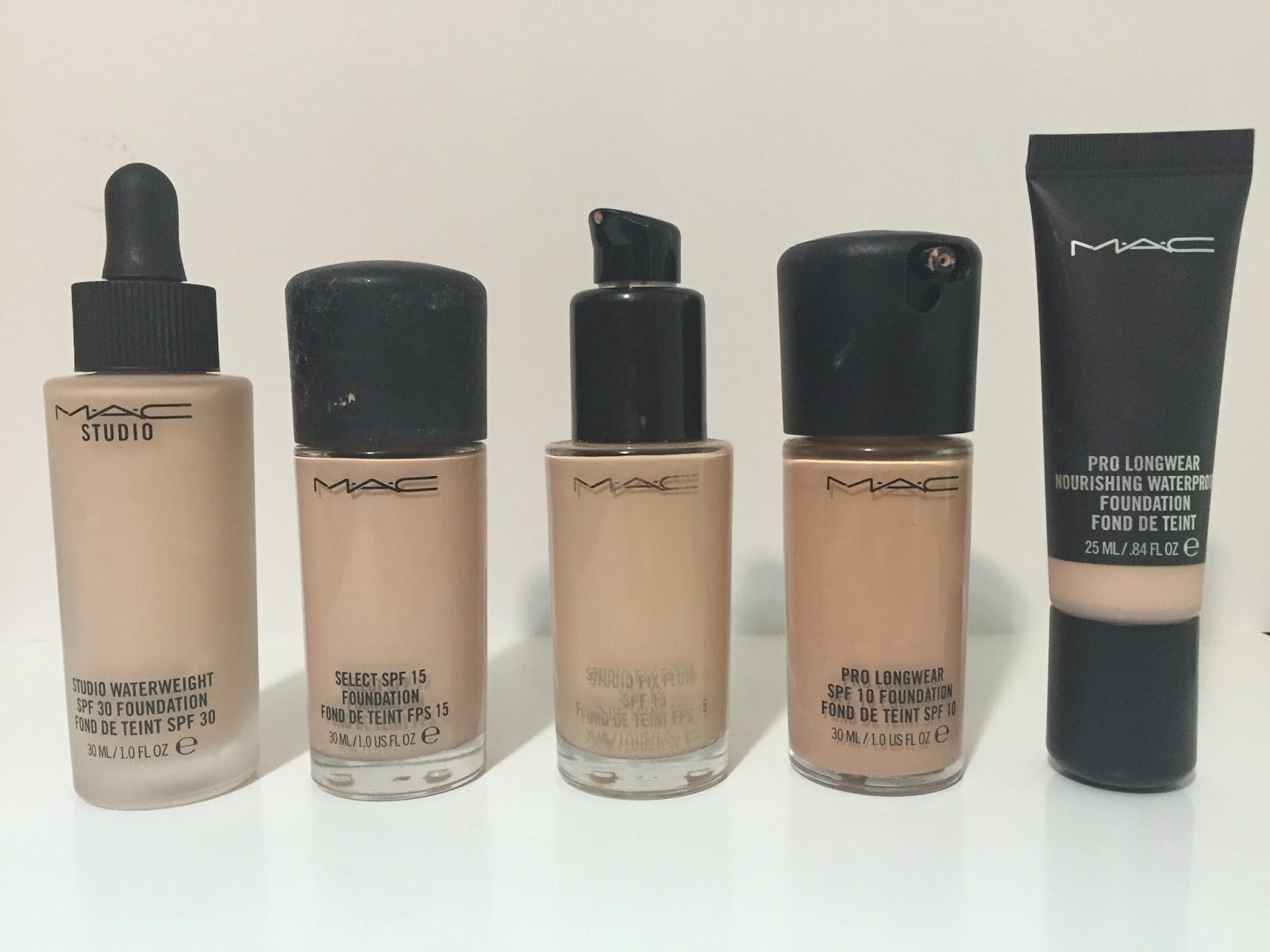 Mac studio waterweight foundation review pictures musings all of these mac foundations are in the shade nw20 believe it or not publicscrutiny Choice Image