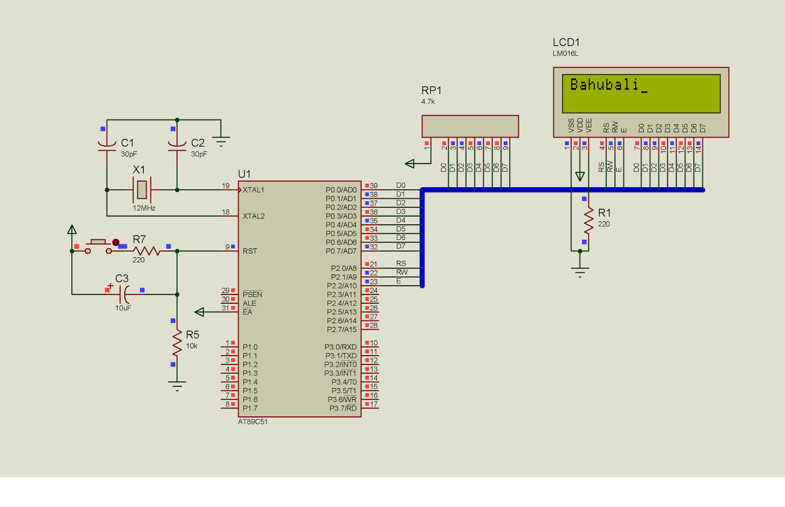 Jqc 3fct73 Dc12v Pinouts Welcome To The Controller Blog 5 Pin Relay Working Principle Hi Folksbelow Diagram Shows How Lcd Can Be Interfaced With 8051 Family Microcontrollersi Have Used Proteus 8 Simulate