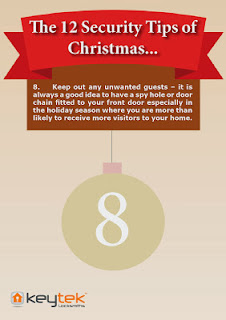 Tip 8 of emergency 24hr Keytek locksmithsThe 12 Security Tips of Christmas