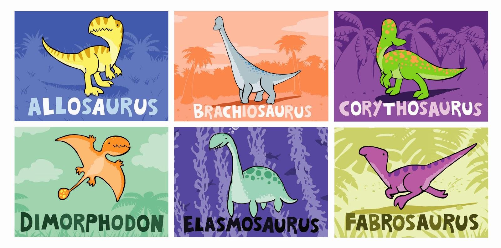 Allosaurus Brachiosaurus Corythosaurus Dimorphodon Elasmosaurus Fabrosaurus
