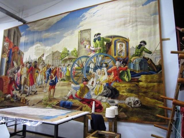 Resultado de imagen de Real Fábrica de Tapices de Santa Bárbara